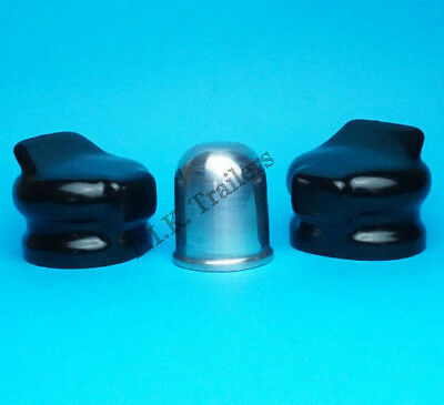 Alloy Aluminium Tow Ball Cover with 2 x Socket Covers - Caravan Motor Home