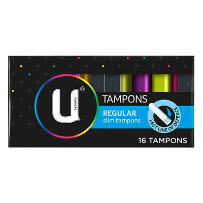 NEW U By Kotex Tampons Regular For Medium Flow 11G Absorbancy 16 Pack