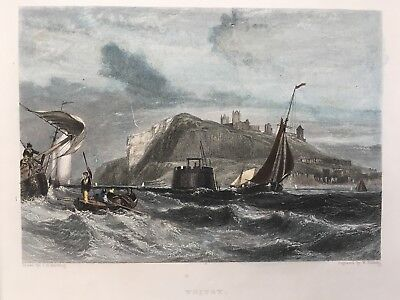 1842 Antique Print; Whitby, Yorkshire after J.D. Harding