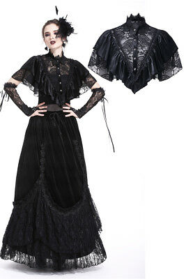 Dark In Love BW048 Gothic Romantic Lace Elegent Velvet Little Bolero Capelet