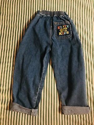 Vintage Kids 90s mom Jeans Age 5-6. Retro Patch