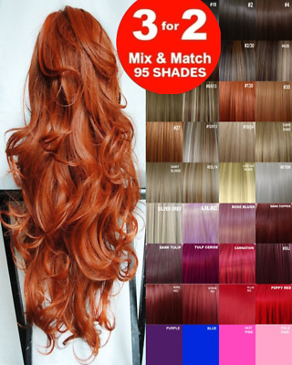 Clip in Hair Extension real Human Feel Plum Copper Brown Blonde Red Auburn