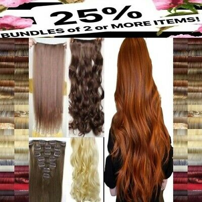 Hair Extensions Clip in Hair Extension real Human Feel Ginger Brown Blonde Red