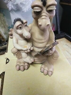 Krystonia Dragon Figurine Flayla & JumblY     Mother And Son Reading