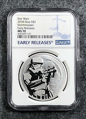 2018 NGC MS70 Niue Star Wars Stormtrooper Early Release Silver 1 oz
