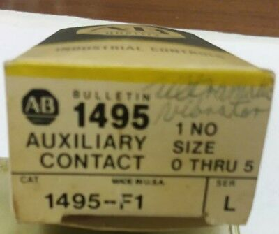 ALLEN BRADLEY  Auxiliary Contact. 1495-F1 Series L
