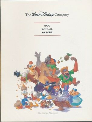 Walt Disney Annual Report-1990-(Disney Afternoon cover)