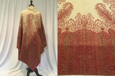 Kashmir Paisley Shawl, mid 1800's, Loom Woven likely from Scotland