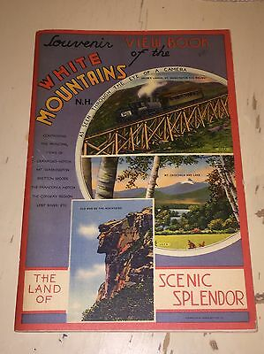 Vintage Souvenir View Book Of The White Mountains New Hampshire NH Travel Guide