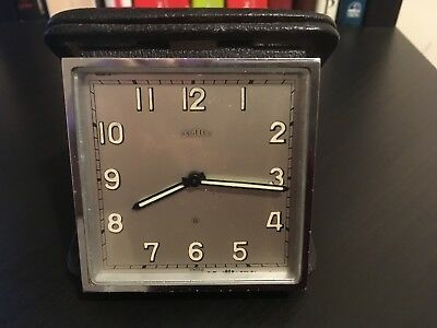 Angelus 8 Day Vintage Swiss Folding Travel Alarm Clock