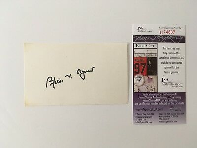 Spiro Agnew Signed Autographed 3x5 Card JSA Certified