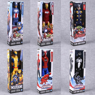 "12"" The Avengers Action Figure Marvel X-Men Spider-Man Iron Man Thor Kids Toy"