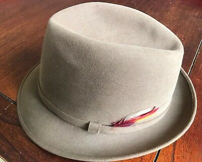 Stetson Turin Fedora Style Hat Royal Stetson Made In Australia Size 57