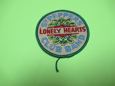 Vintage The Beatles Sgt Peppers Lonely Hearts Club Sewn Patch