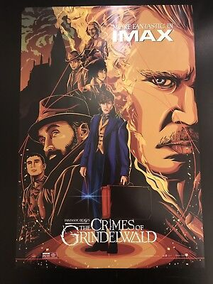 "Fantastic Beasts Crimes of Grindelwald exclusive original IMAX poster 13"" x 19"""
