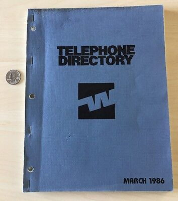 March 1986 Western Airlines Employee Company Telephone Directory