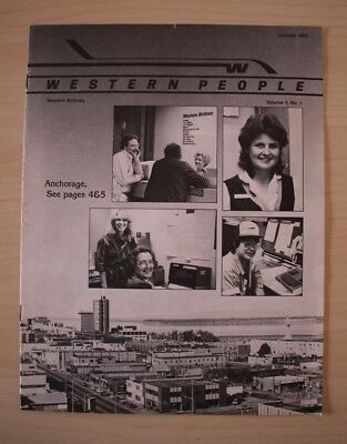 October 1983 Western Airlines Western People Employee Magazine Anchorage
