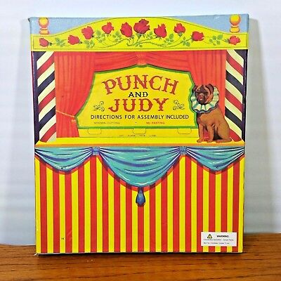 Punch and Judy Puppet Theater Cardboard Punch Out