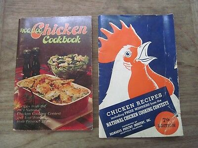 2 Vtg. PB DELMARVA CHICKEN CONTEST Recipe Booklets, 7th Edition & 1973 Recipes