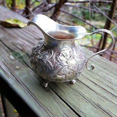 Dutch Sterling Silver 1800s Antique Creamer Pitcher Jug 59.9g 2.11oz