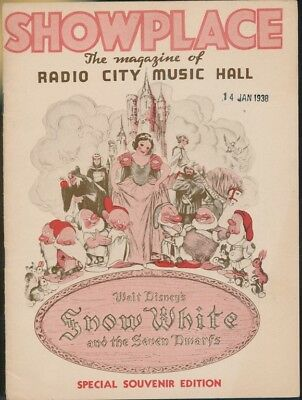 DISNEY- program-SNOW WHITE-Radio City Music Hall- -premiere-Jan.1938-SNW 71