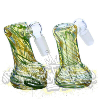 Inside Out Silver Fumed Color Changing Glass Latty Cane Stringer A/C  14mm 18mm