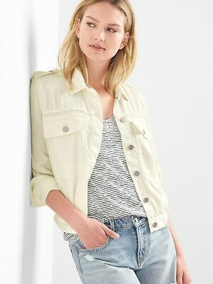 2e462904804c7 GAP ICON TENCEL Twill Utility Jacket XS Off White - $22.99 | PicClick