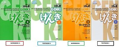 GENKI 2 & GENKI 1  Course in Elementary Japanese Textbooks Workbooks PDF SET´s