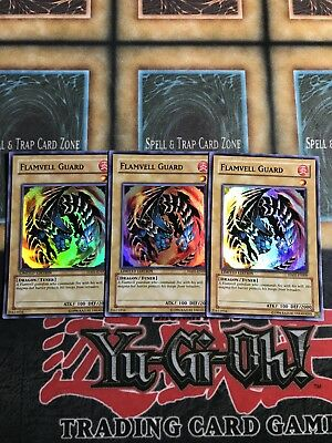 Yugioh Flamevell Guard HA01-EN009 Super Rare Limited Edition x3!