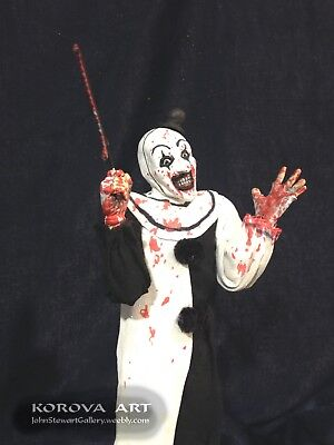 Art The Clown TERRIFIER 1/6 scale figure. 1of1, Hand Made. Artist signed
