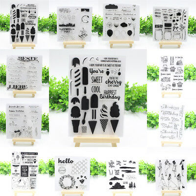 DIY Various Transparent Clear Silicone Stamp Cling Diary Scrapbooking Card Decor