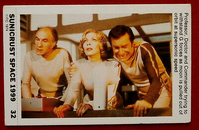 SPACE 1999 - WITHSTANDING G FORCES - SUNICRUST Card 32 (Australia, 1975)