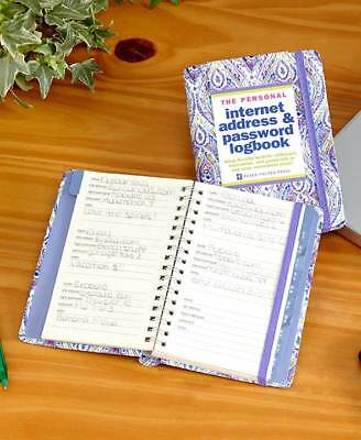 Internet Address & Password Logbooks Alphabetized & Tabbed For Easy Reference