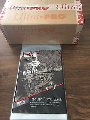 LOT OF 10  ULTRA PRO BAGS and boards FOR COMIC BOOKS