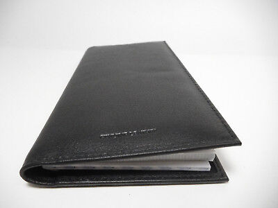 Private Label Black Fine Leather Luxuriously Padded Standard Checkbook Cover3218