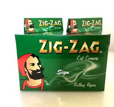 1000 Zig Zag Green Rizla Rolling Papers 20 Booklets X 50 Papers Original