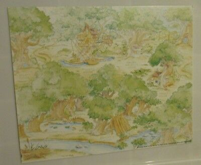 "DISNEY - DLR ""100 ACRE WOODS w/POOH & FRIENDS"" GWP Map Card without Pins - New"