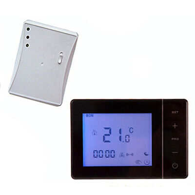Termostato Wireless RF Temperatura Display Bagno Riscaldamento Programmabile