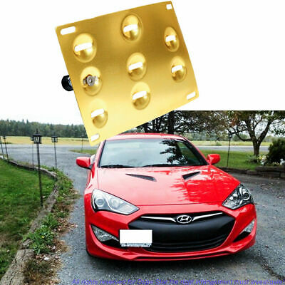 Gold License Plate Mounting Bracket Front Bumper Tow For Hyundai Genesis Coupe