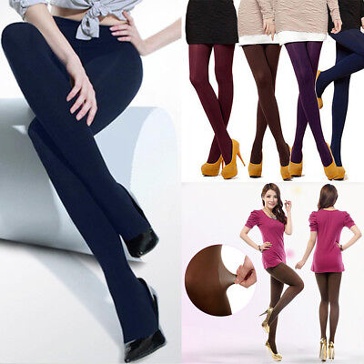 Solid Women Thick Tights Pantyhose Stockings Footed Velvet Warm Winter Socks 1PC