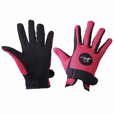 Horka Fun Girls Gloves Everyday Riding Glove - Rose Pink All Sizes