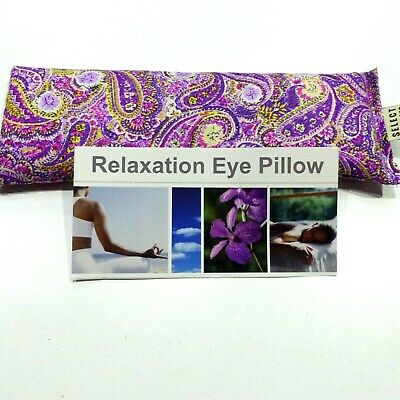 Cotton Eye Pillow Mask PAISLEY Linseed  Relaxation Lavender chamomile unscented