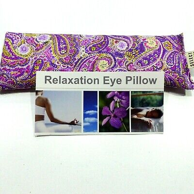 Cotton Eye Pillow Mask PAISLEY Linseed Yoga  Relaxation Choose scent 180+ grams