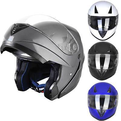 Flip Up Front Modular Full Face Helmet ECER 22-05 Motorcycle Motorbike S M L XL