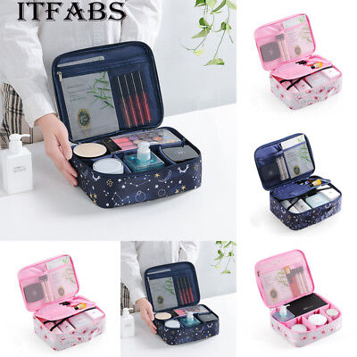 US Travel Cosmetic Makeup Bag Toiletry Case Hanging Pouch Wash Organizer Storage