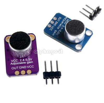 GY-MAX4466 Electret Microphone Amplifier with Adjustable Gain for Arduino