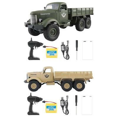 JJRC Q60 RC 1:16 2.4G 6WD Tracked Remote Control Off-Road Military Truck Car RTR
