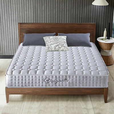 NEW Memory Foam Quilted Sprung Mattress Single 3FT Double 4FT 4FT6 King 5FT Size