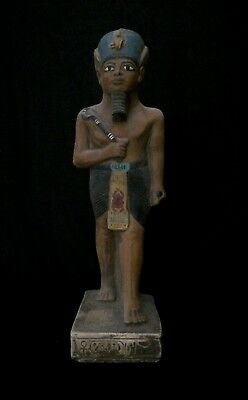 ANCIENT EGYPTIAN STATUE ANTIQUITIES Osiris Gods Carved EGYPT STONE 3150-2613 BC