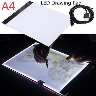 A4 LED Ultra Thin Art Craft Drawing Copy Tracing Tattoo Light Box Pads Tablet